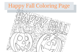 Free Fall Coloring Page
