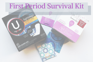 how to make a first period survival kit