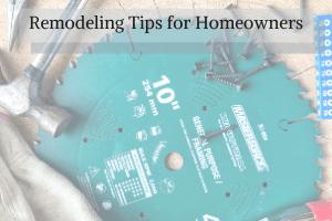 remodeling tip