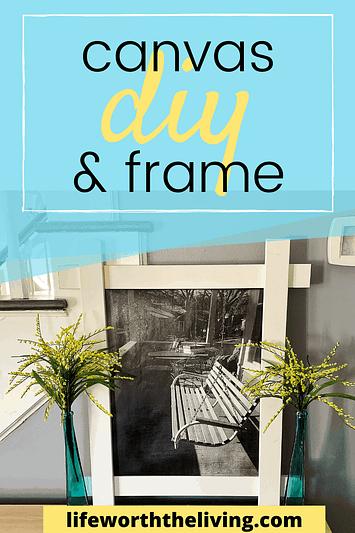 Diy canvas and frame artwork