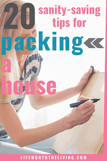 Moving tips for packing a house