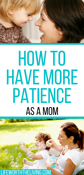 pinterest pin for the blog post on how to be a more patient mom
