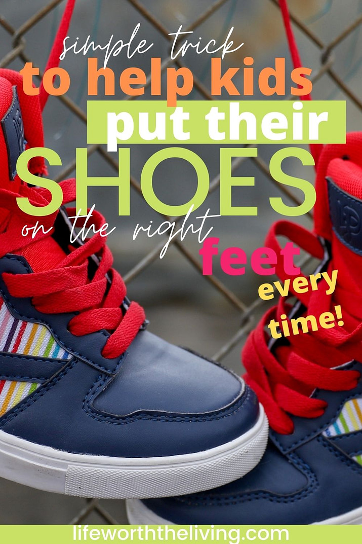 Simple Trick to Help Kids Put Shoes on Right